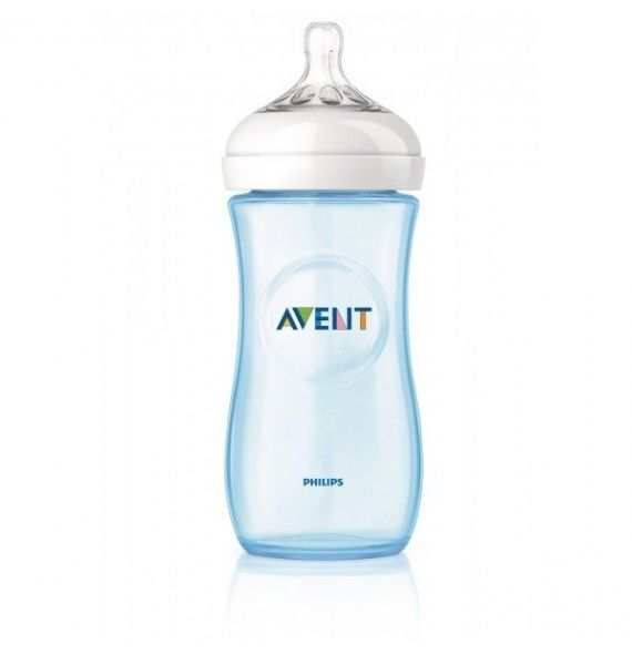 Avent Philips Biberón natural azul 260 ml