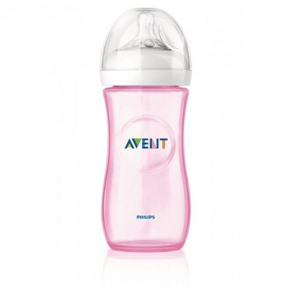 Avent Philips Biberón natural rosa 260 ml