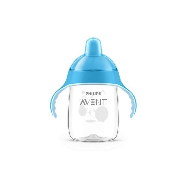 Avent Philips Taza Magic anti-goteo azul 340 ml