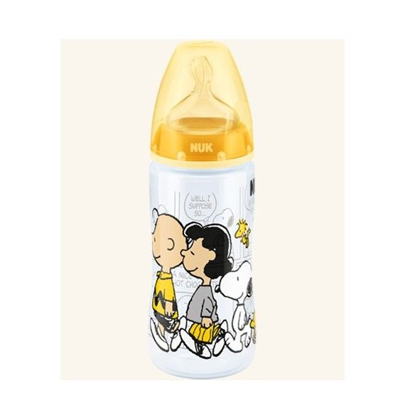 Nuk Biberón First choice Snoopy tetina silicona T-1 M 300 ml